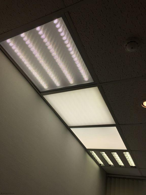 светильники с разной габаритной яркостью