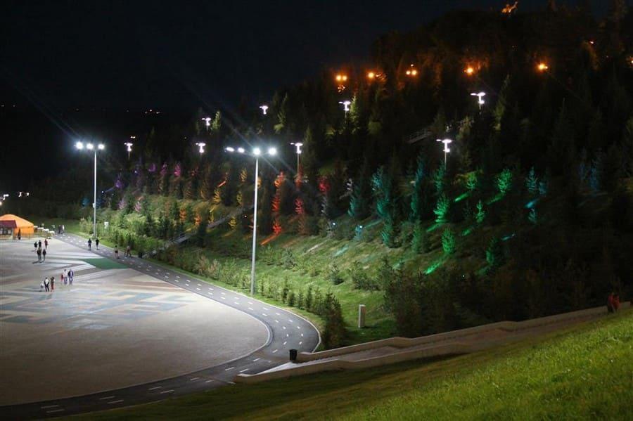 Светодиодные светильники на улицах