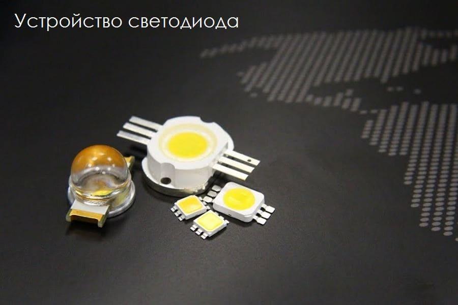 Устройство светодиодаи принцип его работы