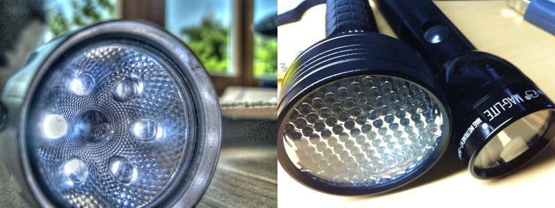 светодиодные лампы в фонариках